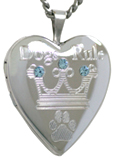 L5079 sterling dogs rule pet heart locket