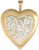 L5081 multi stone 20 heart locket