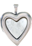 20mm heart locket with mother of pearl