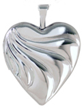 embossed swirl heart locket