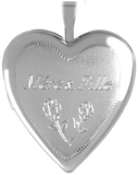 L5096 mother daughter 20mm heart locket