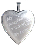 L5097 mother daughter heart locket