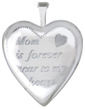 L5098 mother daughter heart locket