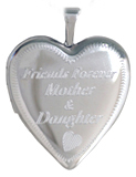 L5099 mother daughter friend locket