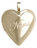 L5109 nana heart locket