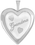 L5110 sterling grandma heart locket