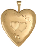 L5111 double heart 20 heart locket