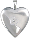 L5122D heart with diamond heart diamond