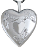 L5126 butterflies with heart locket
