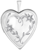 L5129 floral heart locket