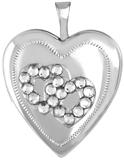L5132 crystal hearts heart locket