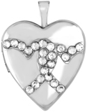 L5135 20mm heart with crystal hearts