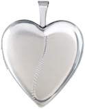 L5142 20mm heart locket half satin half polish