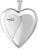 L5146DT diamond two texture 20mm heart locket