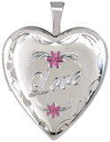 L5147 Love with flowers heart locket