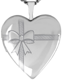 L5156 bow 20mm heart locket