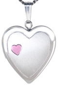 L5158 loving memory heart locket