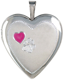 L5158 paw pet cremation locket