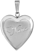 L5170 sterling nana heart locket