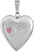 L5170 20mm heart locket with nana