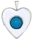 L5173 2-mm heart locket with 7mm stone