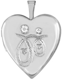 L5187 mother daughter locket with crystals