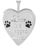 L5204 20mm heart pet locket