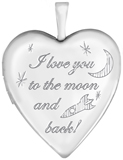 L5205 Love you to the moon and back heart locket