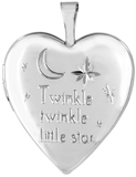 L5207 Twinkle twinkle nursery rhyme locket