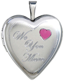 L5208 we love you mom heart locket