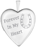 L5209CR equestrian horse cremation heart locket