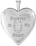 L5210CR horse cremation locket