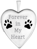 L5211CR pet memorial heart locket