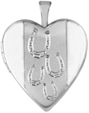 L5212 horseshoes horse heart locket