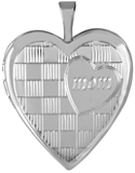 L5231 mom on pattern 20mm heart locket