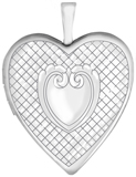 L5234 grid heart locket
