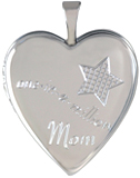 L5237 one in million mom heart locket