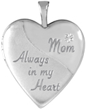 L5238 always in my heart mom heart locket