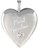 L5240D grandma with diamond heart locket