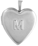 L5244A embossed initial heart locket