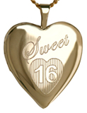 L5108 sweet 16 heart locket