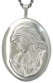 sterling 20 oval locket mother and child