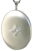 sterling 20 oval locket with stone