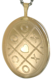 20 oval lockets kisses and hugs