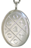sterling kisses and hugs oval locket