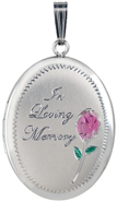 L8039 20mm oval loving memory locket