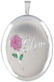 L8040 20 oval Mum with love locket
