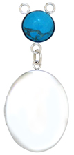 L8080 plain locket with turquoise drop locket