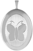 L8103A sterling 20 oval butterfly