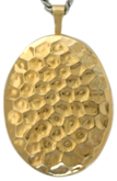 L8008 hammered pattern 20 oval